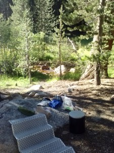 Second night's campsite at Rock Creek