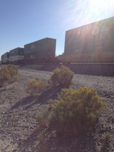 Trains alongside Hwy 10 near Cabazon
