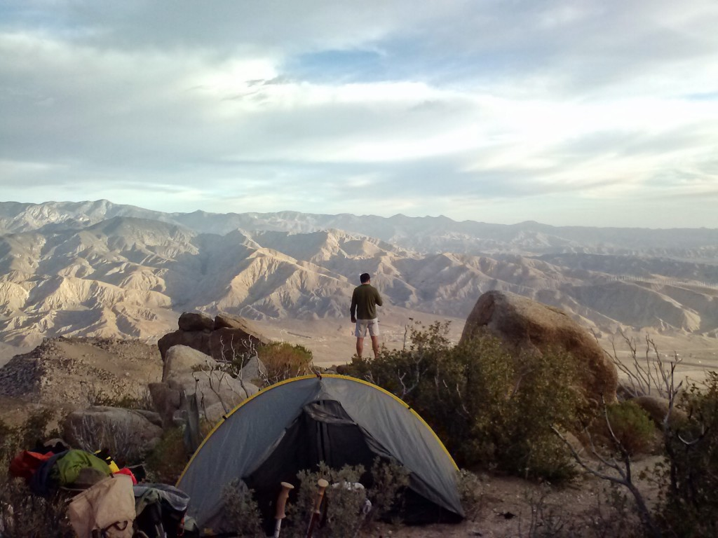First night's campsite, near mile 197.