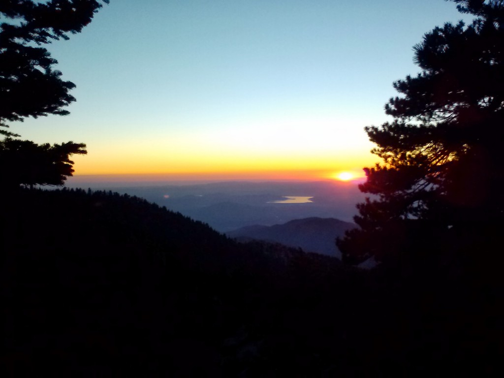 Sunrise looking toward Lake Hemet