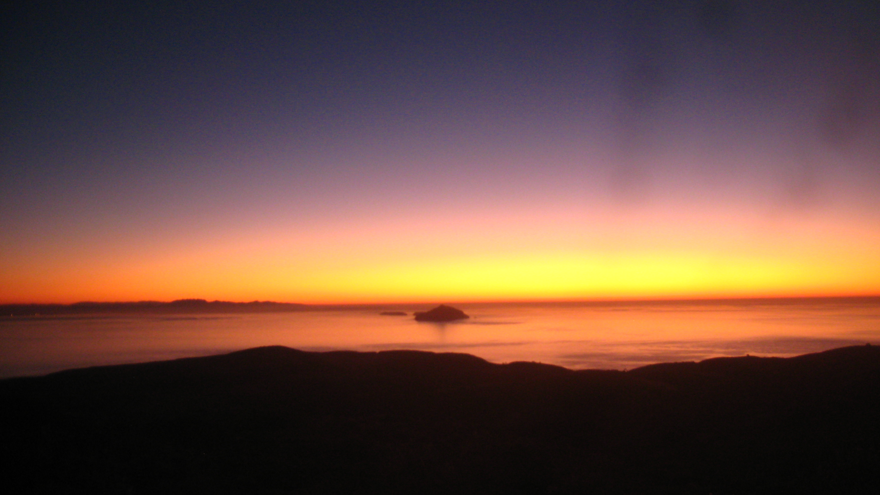 Sunrise over Anacapa Island viewed from the Montana Trail on Santa Cruz Island