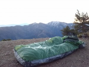 Watching the sunrise over Mt. Baldy