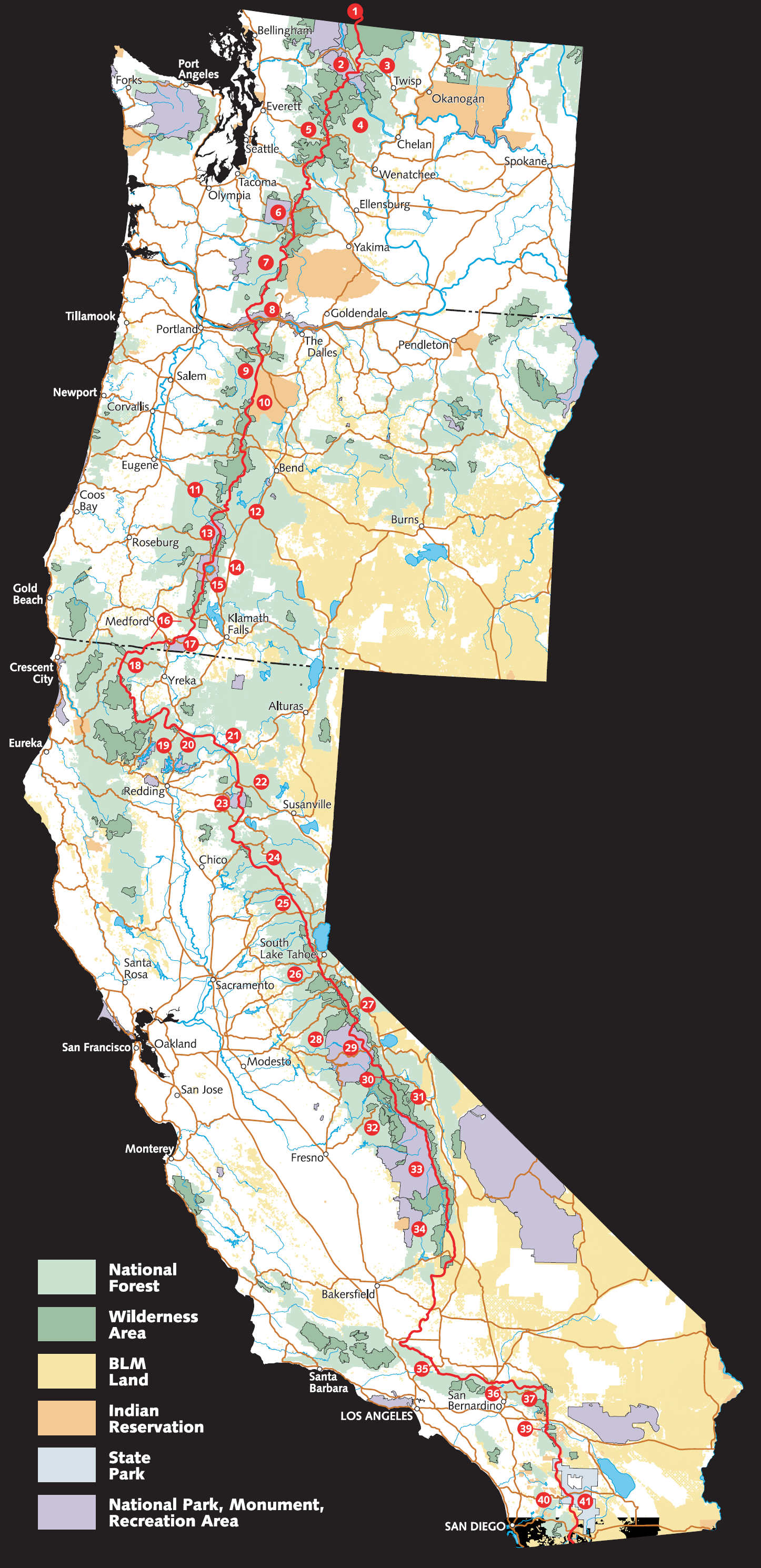 intro to the pacific crest trail – a skirt in the dirt - my hike us forest service overview map