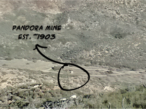 The Pandora Mine at the bottom of Rodriguez Canyon