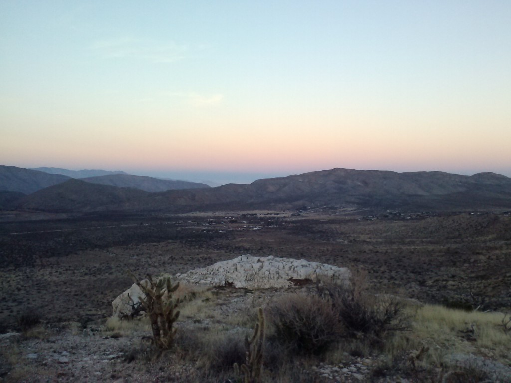 View of the San Felipe Valley from campsite at mile 73