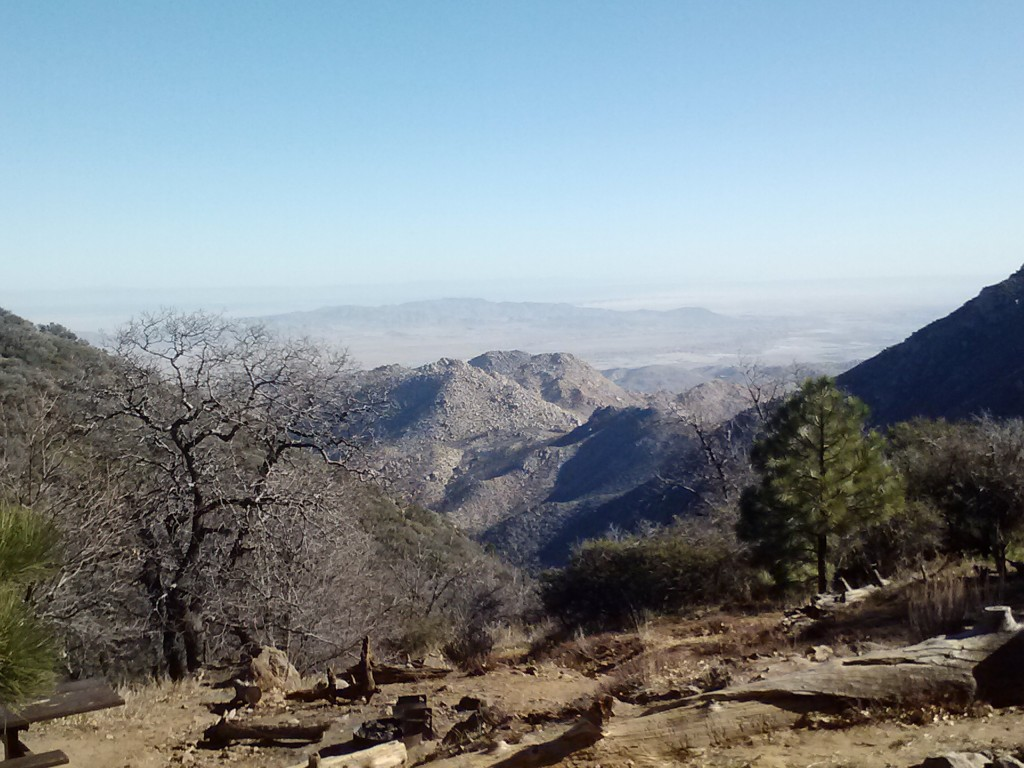 View of the Anza-Borrego Desert from the Desert View Picnic Area