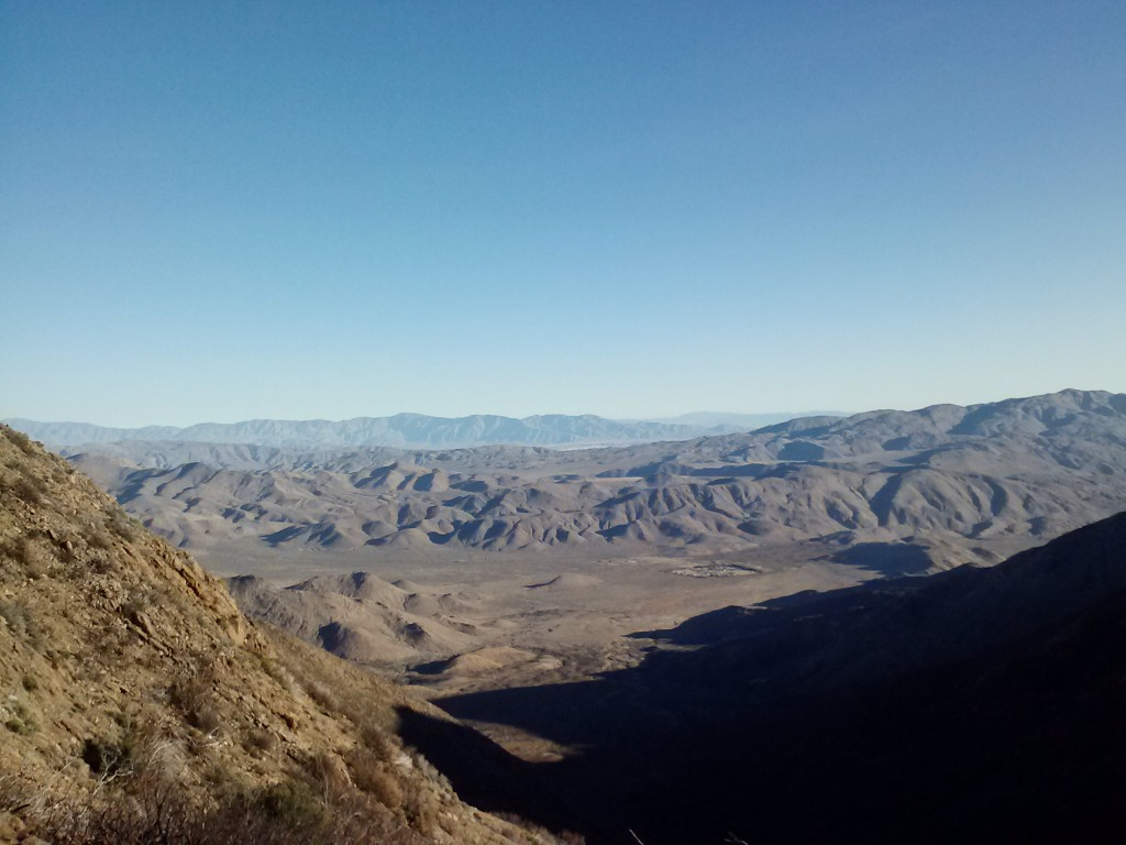 View of the Anza-Borrego Desert from the Pioneer Picnic Area