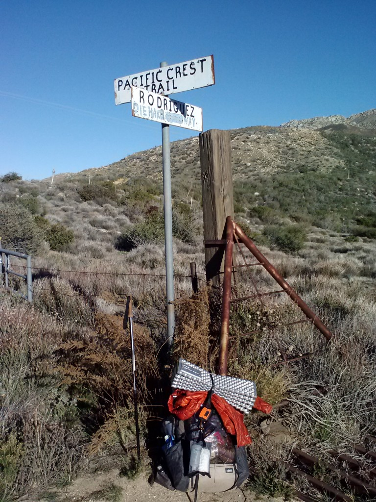 "Junction of the PCT and Rodriguez ""Die Hard"" Way :)"