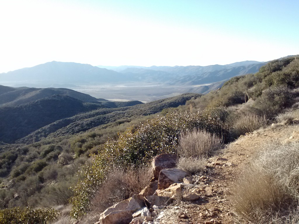 Along the San Felipe Hills, view of the San Felipe Valley