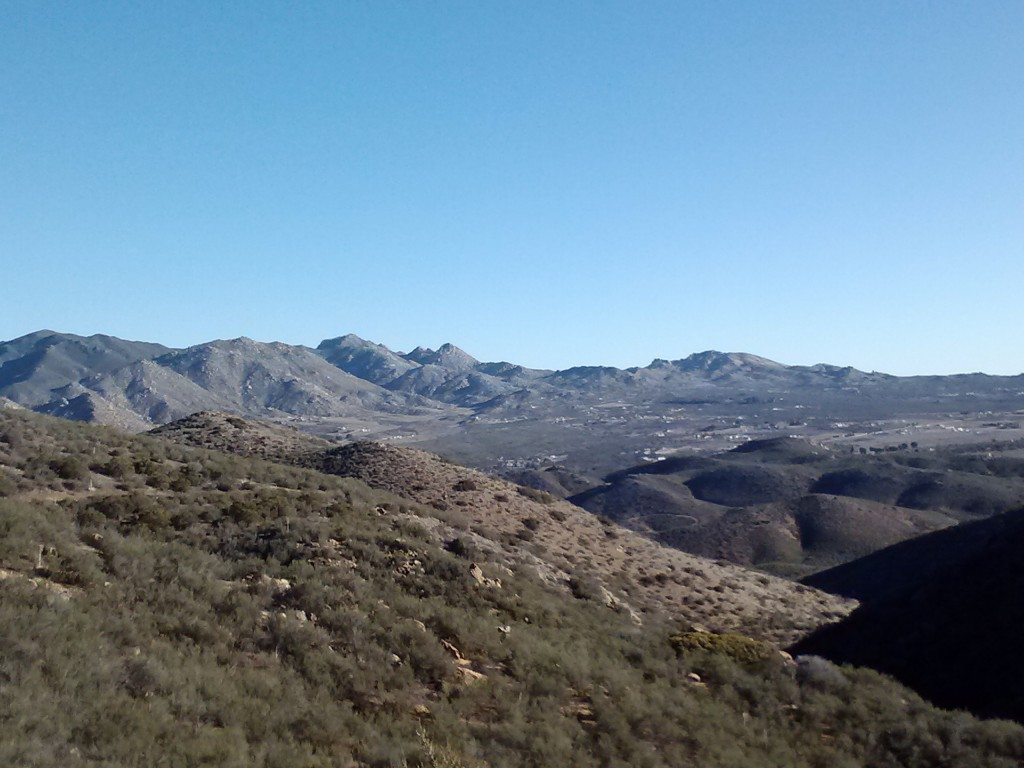 The San Ysidro Mountains above Ranchita