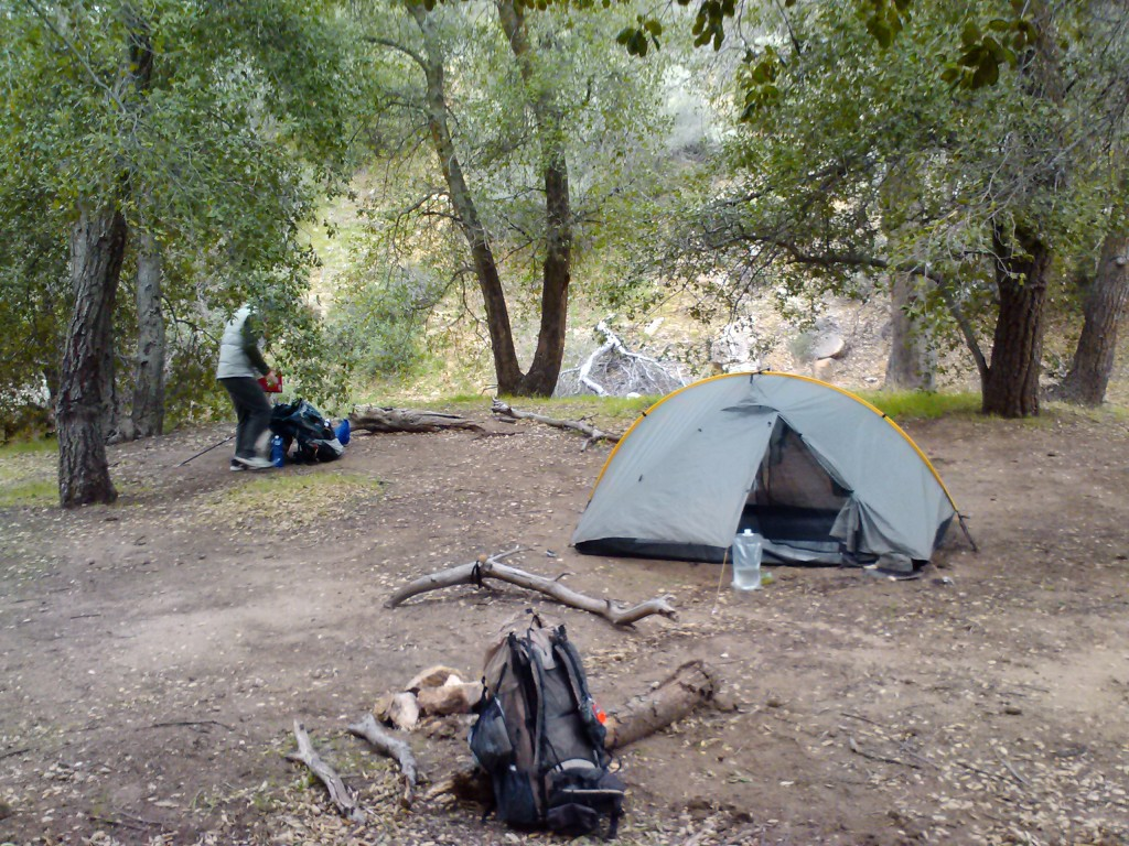 Fred Canyon campsite at mile 32 (CS032)