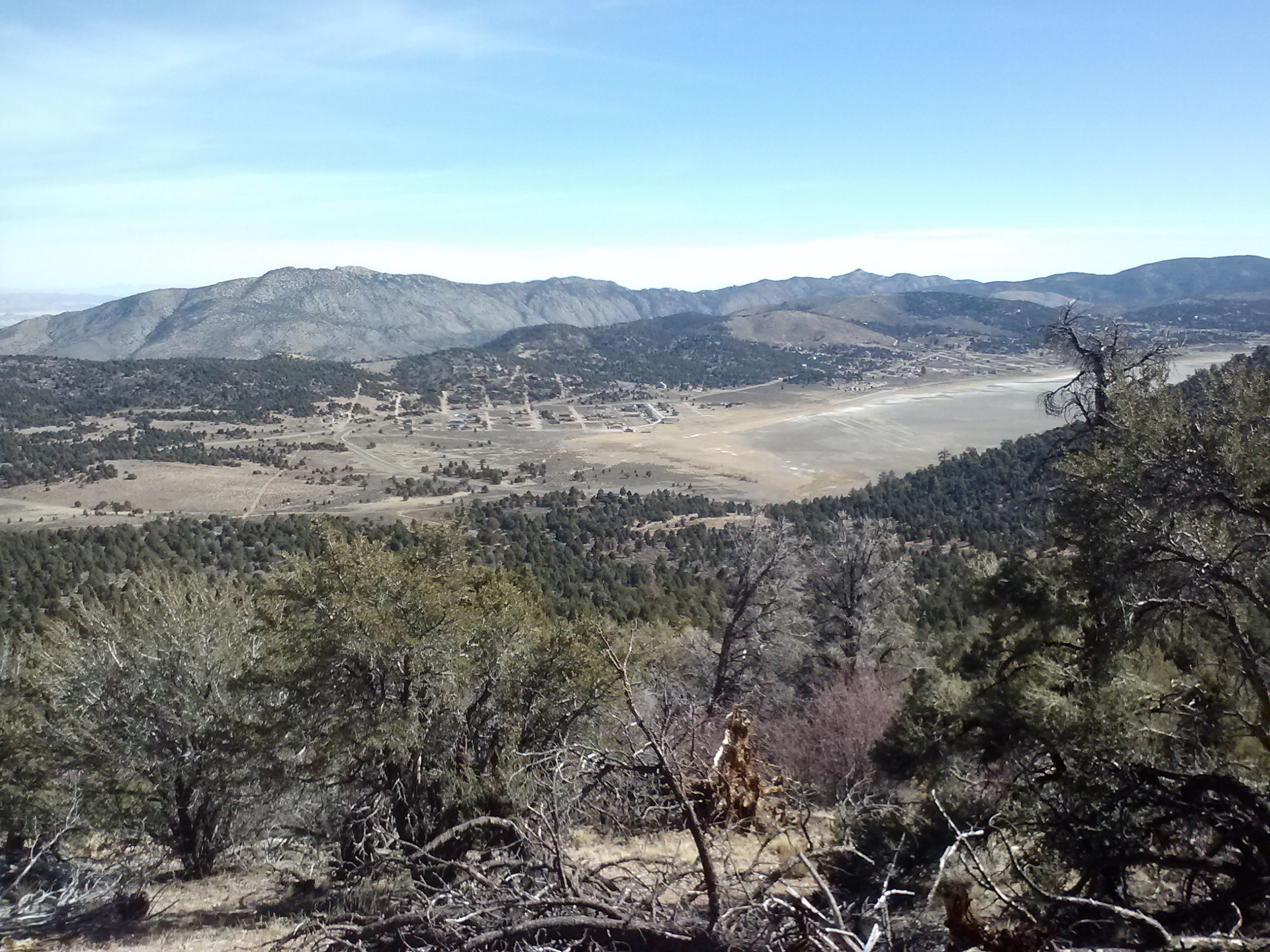 View towards the dry lakebed of Baldwin Lake