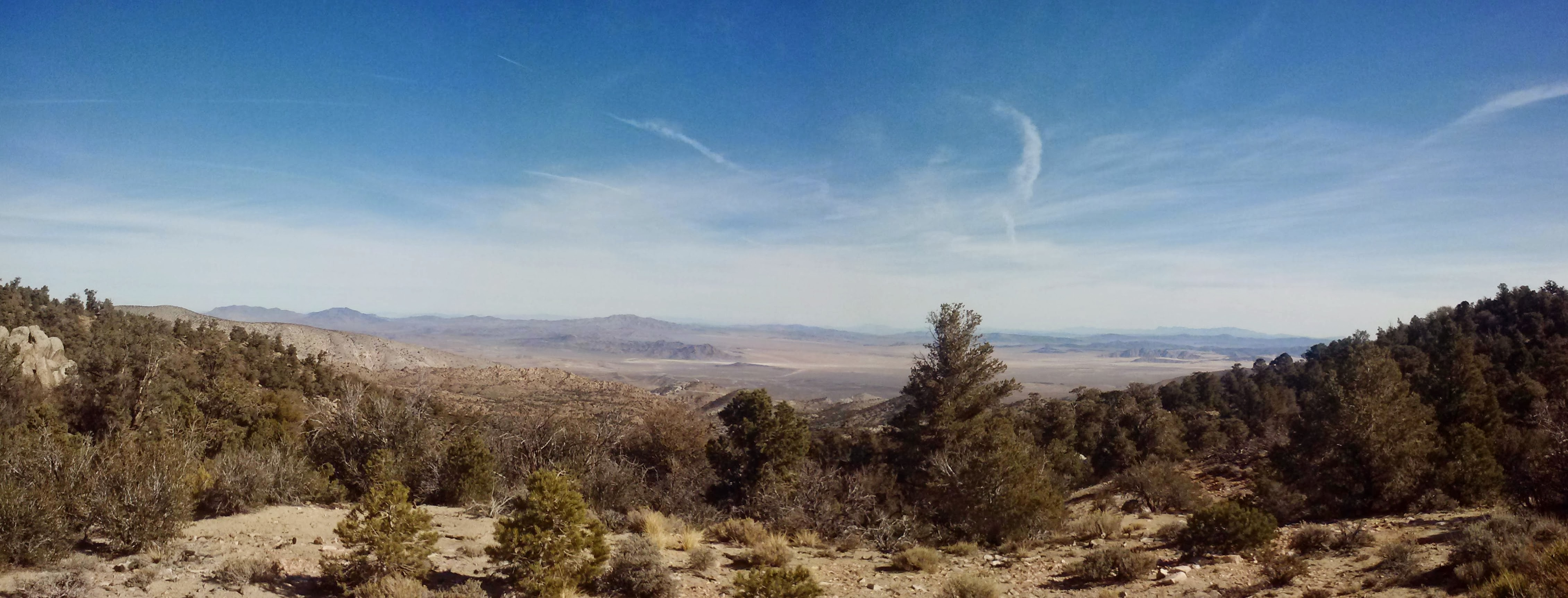 View towards the southern reaches of the Mojave Desert