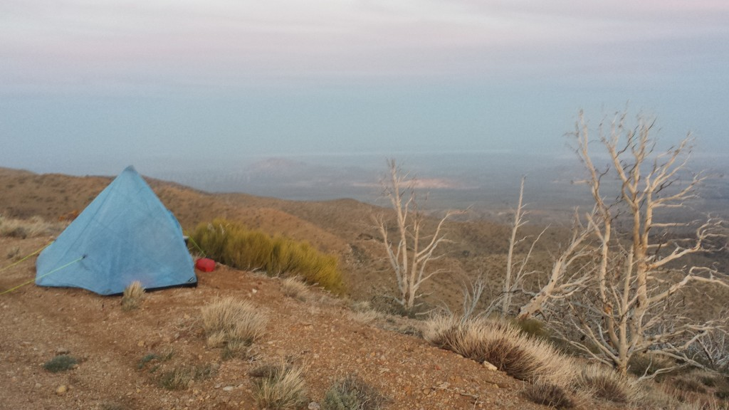 Camping near mile 548.5