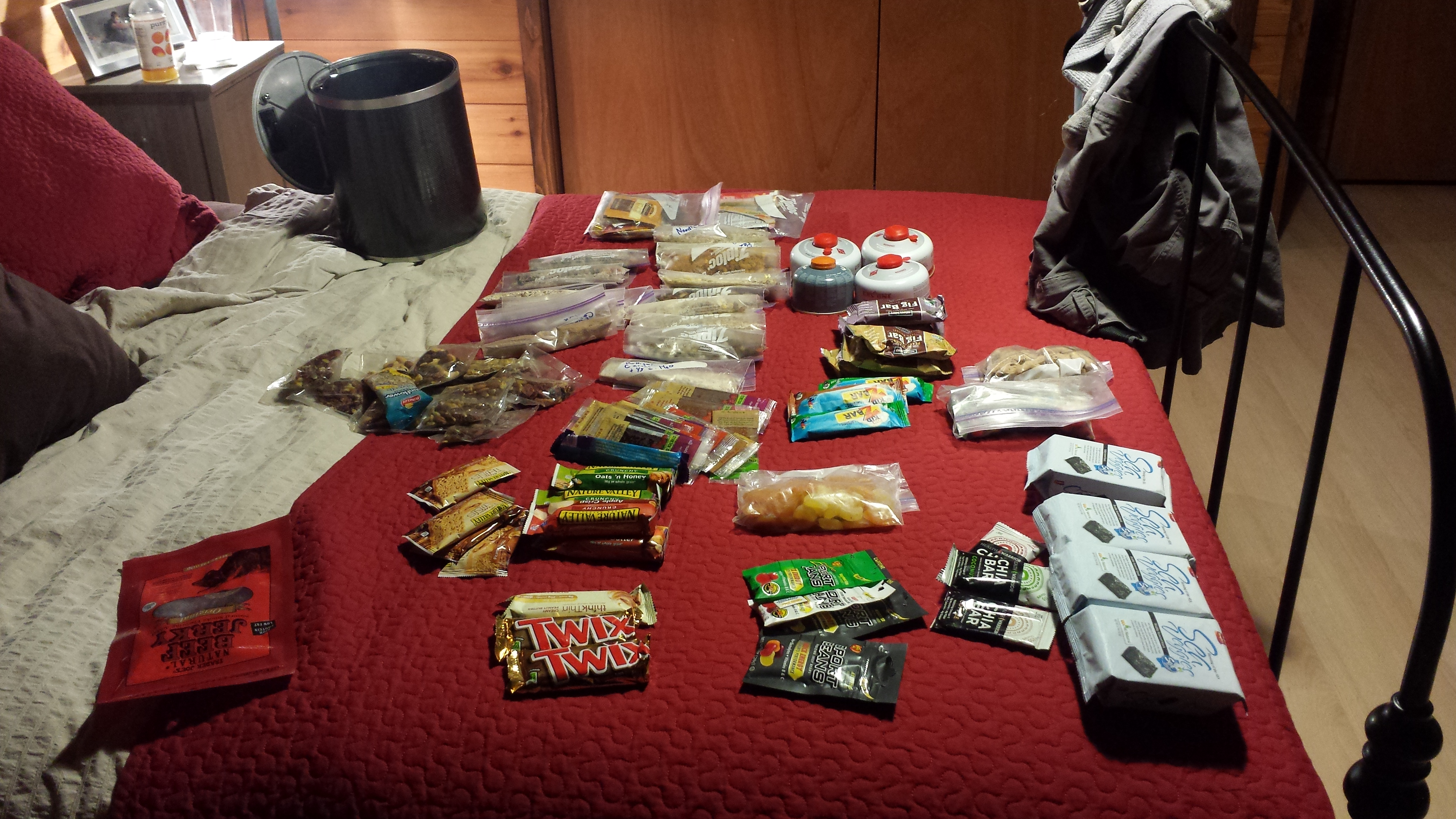 Organizing my food for the next 8 days
