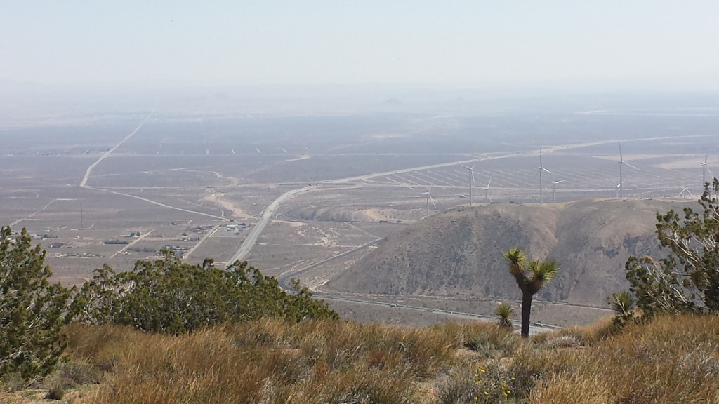 Looking south towards Hwy 58 and Mojave