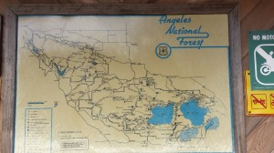 Map at the North Fork Ranger Station