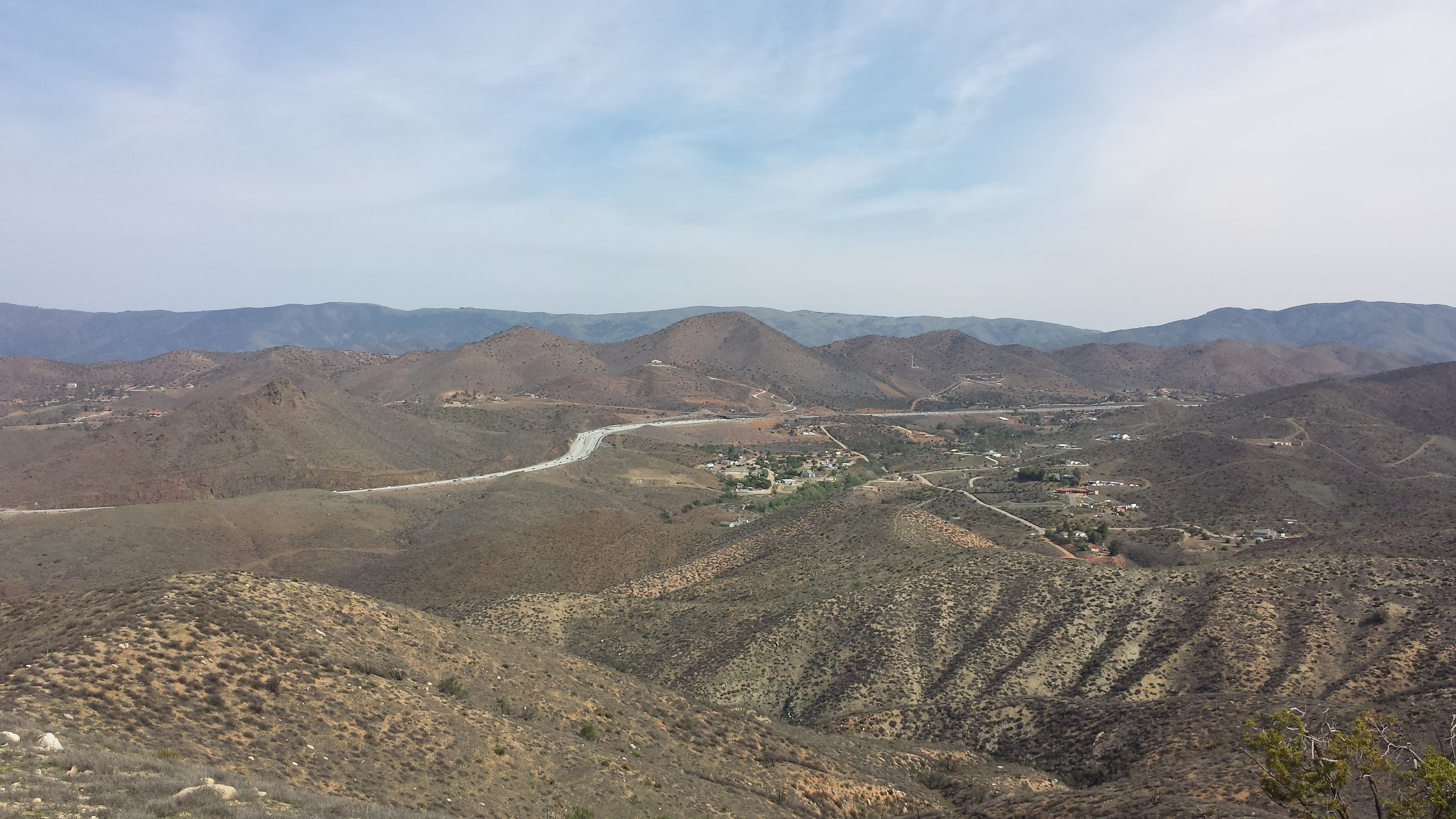 View of Hwy 14 near Agua Dulce