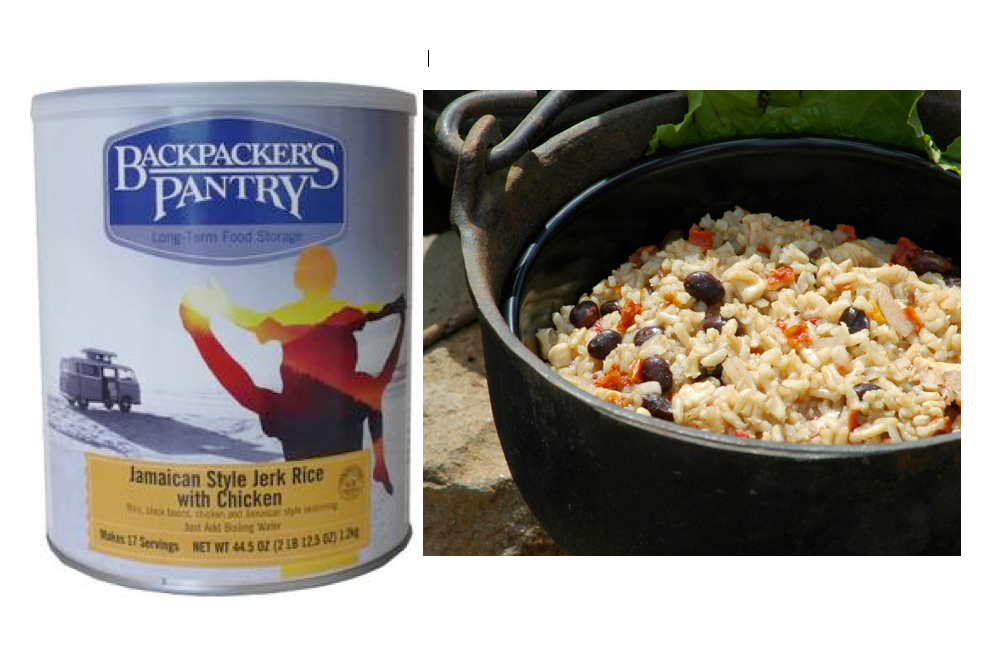 Backpacker's Pantry Jamaican Style Jerk Rice with Chicken. $4.50 per serving.