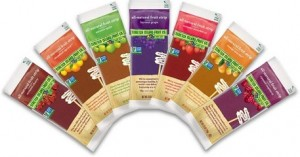 Stretch Island Fruit Leather come in a varriety of flavors, can be purchased easily in bulk, and is easy to eat throughout the day.