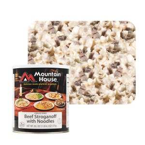 Mountain House Beef Stroganoff with Noodles. $3.75 per serving.