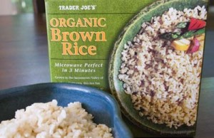 Trader Joe's frozen and fully cooked Organic Brown Rice