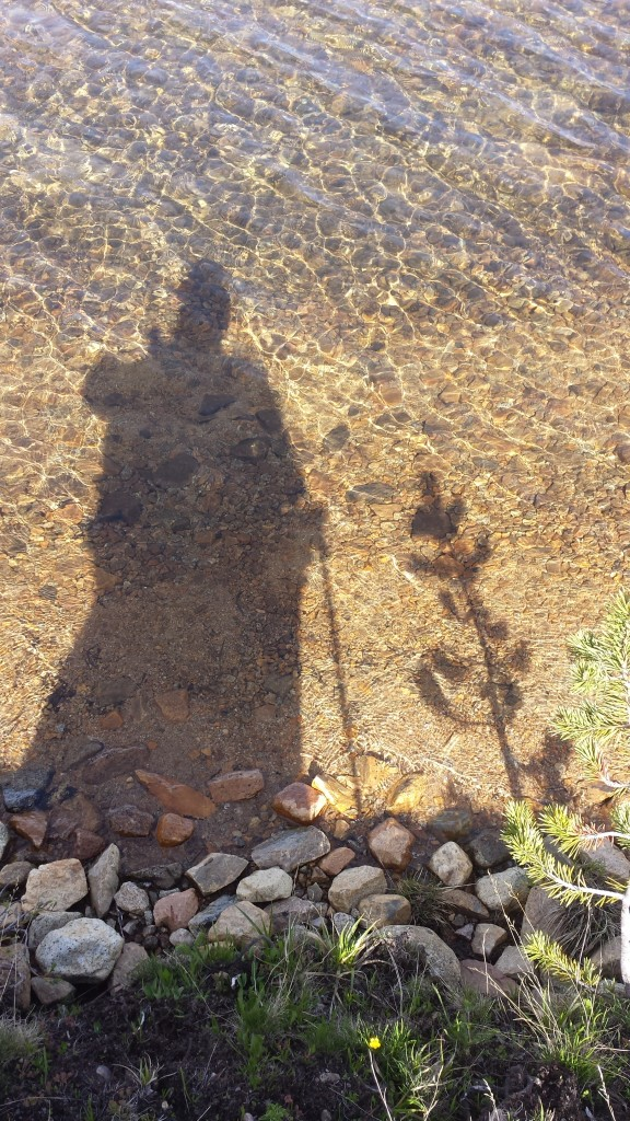 PCT Section I Toiyabe National Forest Yosemite Wilderness Dorothy Lake hiker reflection