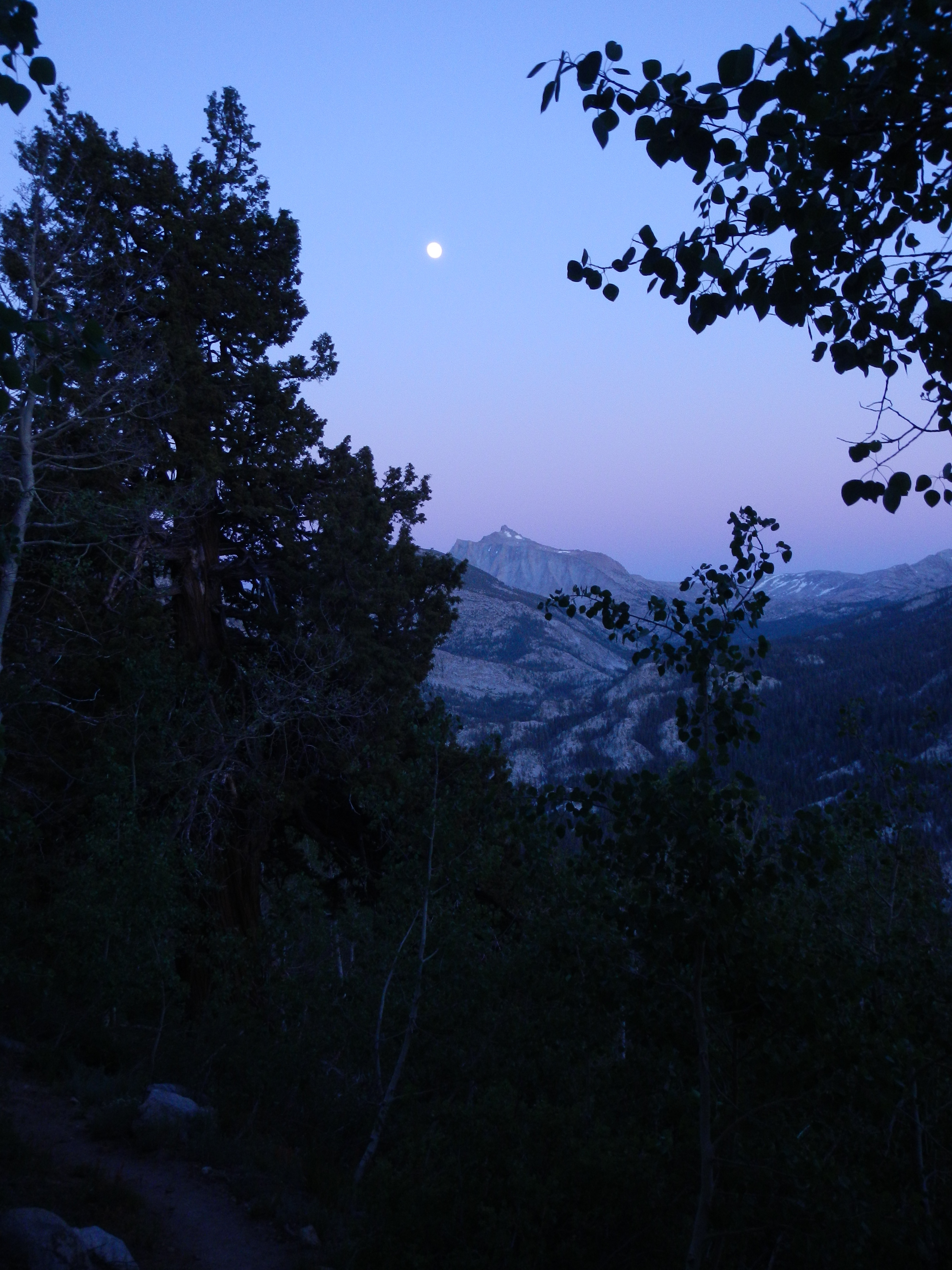 Night hiking near Bear Creek