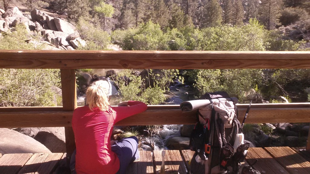 PCT Section G Sequoia National Park South Fork Kern River footbridge