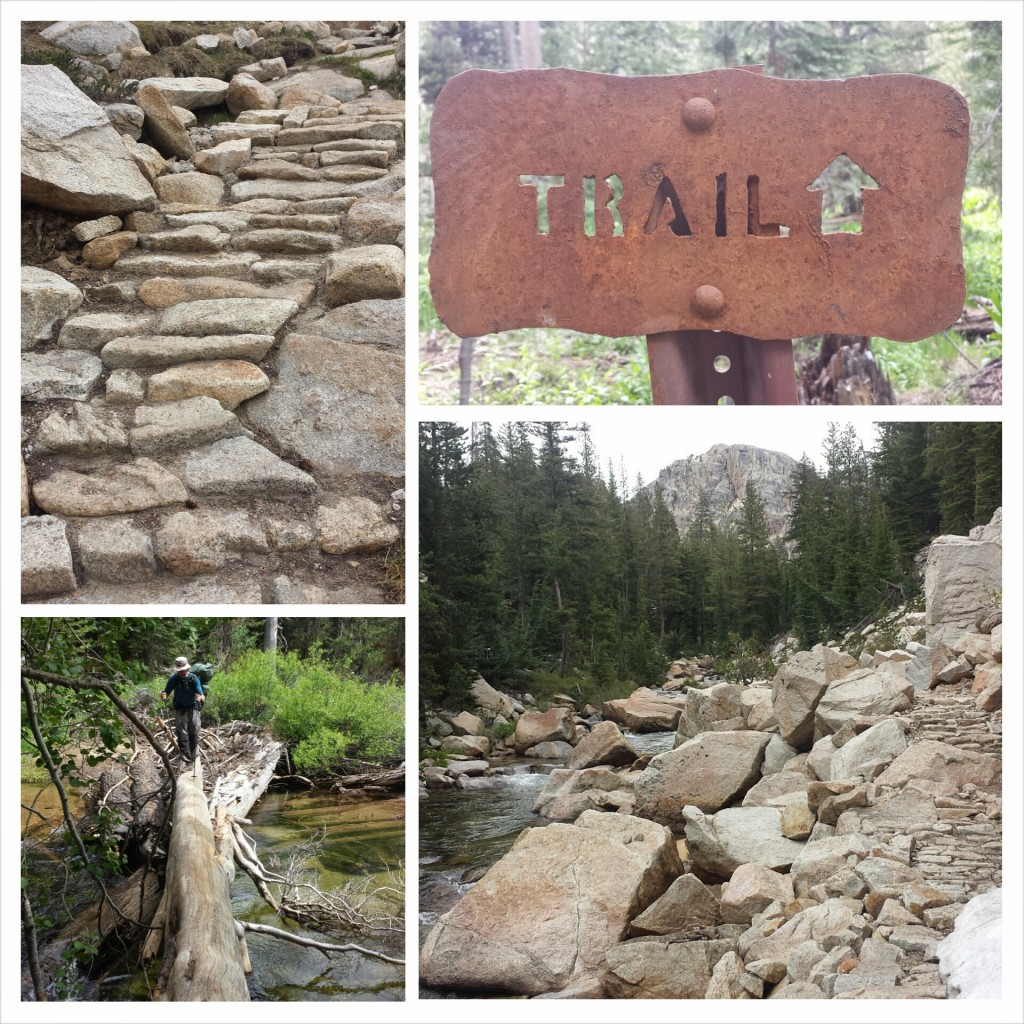 PCT Section I Yosemite Wilderness stone trails