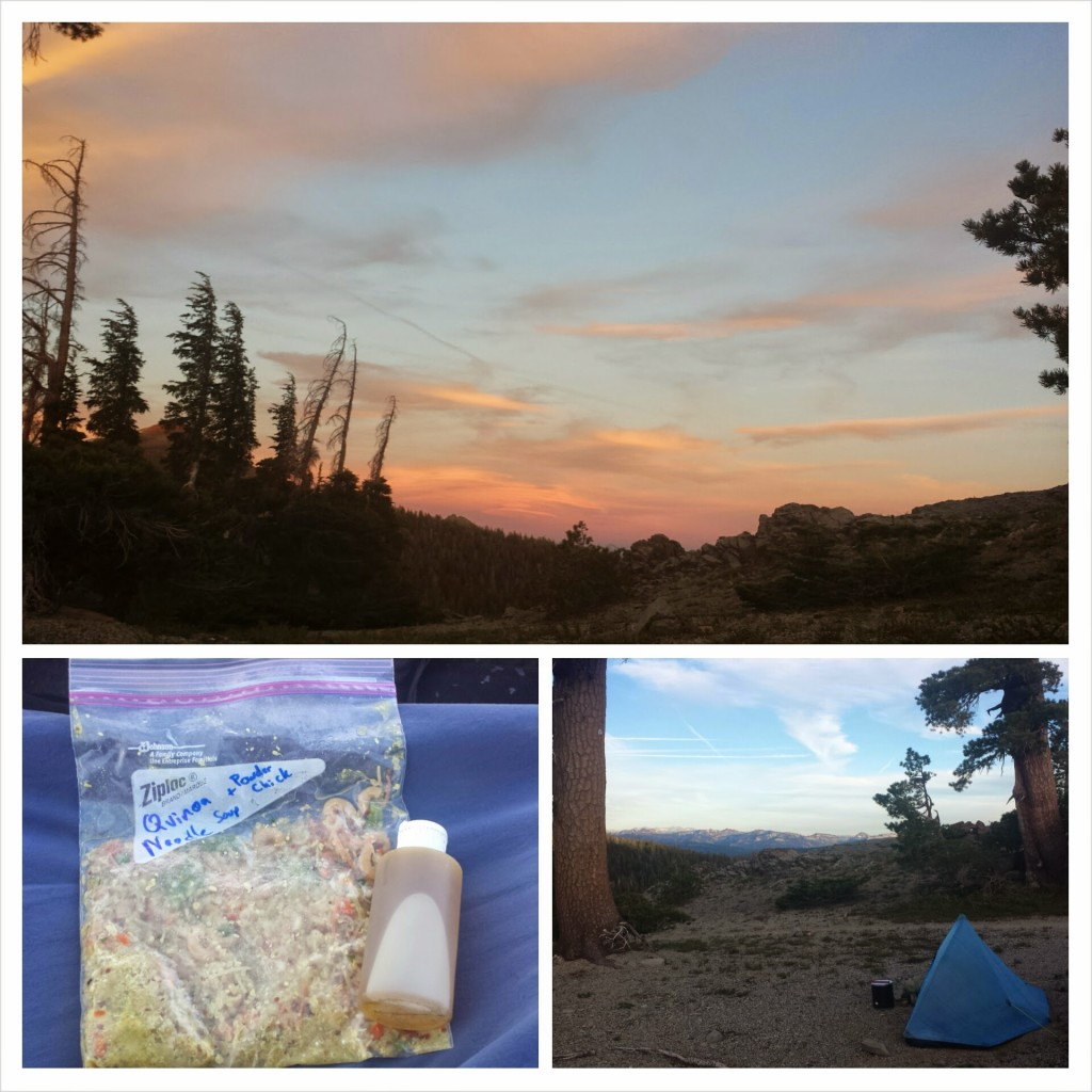 PCT Section J Toiyabe National Mokelumne Wilderness trail food dinner quinoa