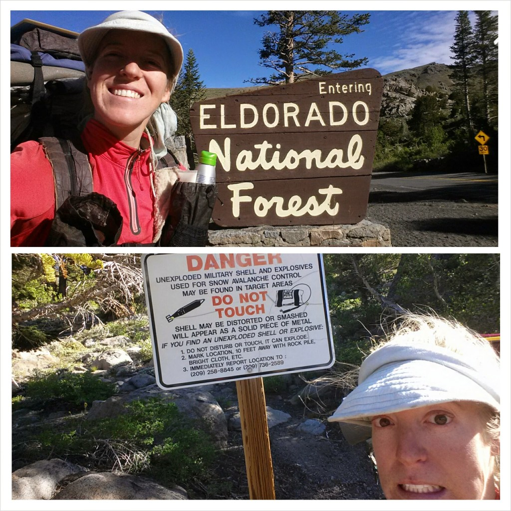 PCT Section J El Dorado National Forest Carson Pass hiker trash