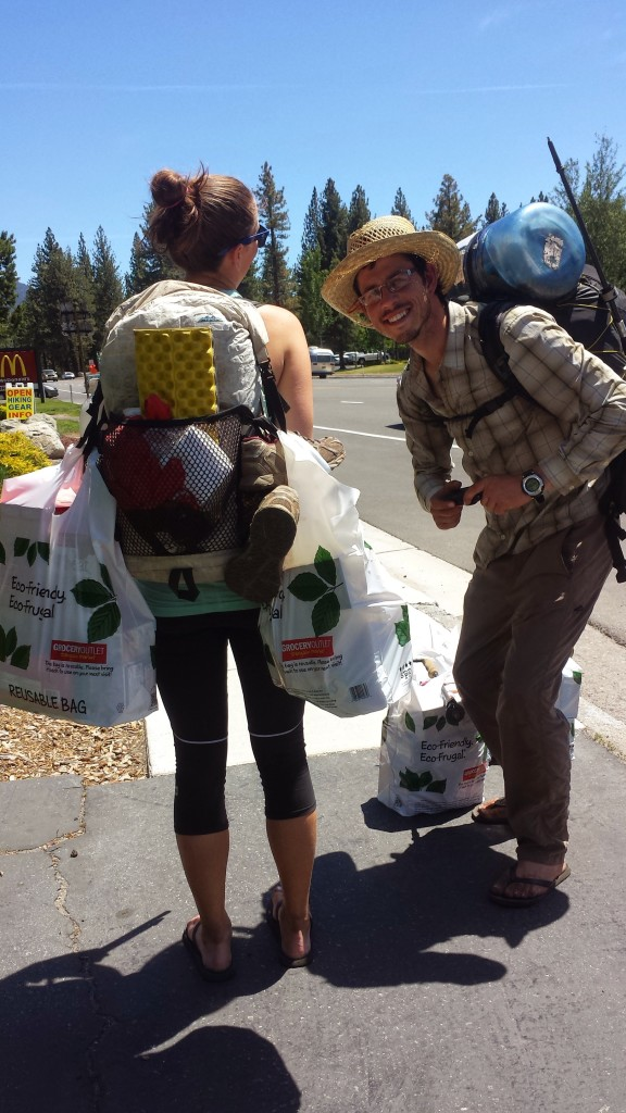 PCT Section J South Lake Tahoe hiker trash