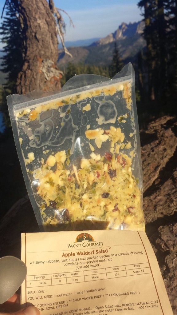 PCT Section M Tahoe National Forest trail food Packit Gourmet Waldorf Salad