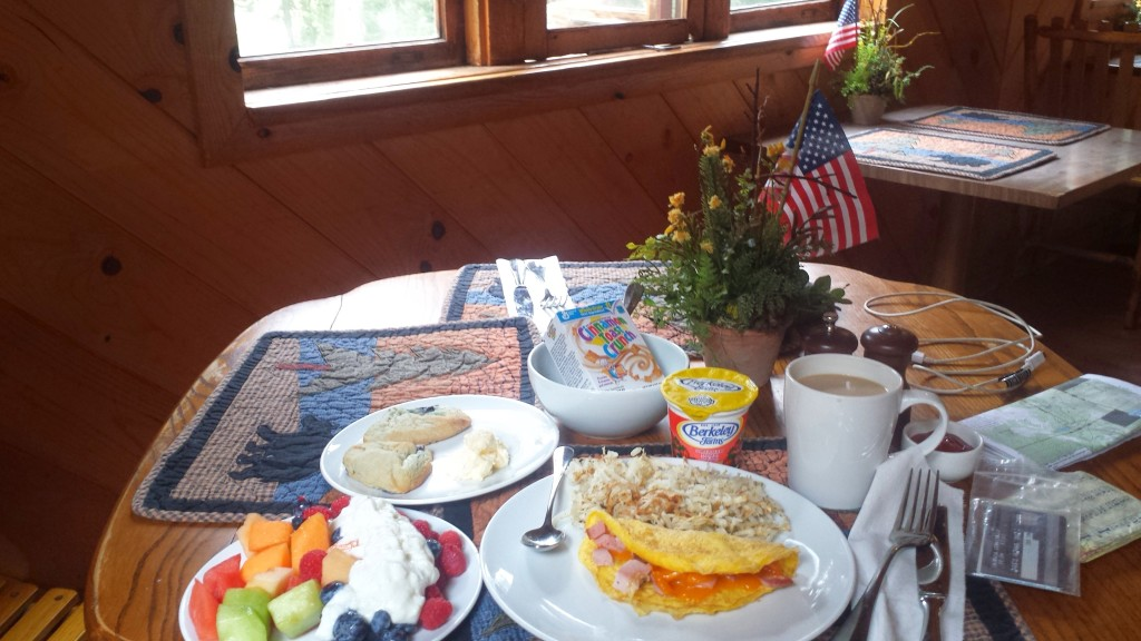 PCT Section N Lassen National Forest Drakesbad Guest Ranch breakfast