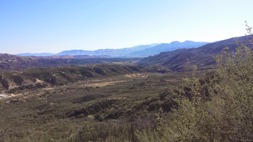 View of Summit Valley towards Mojave Forks