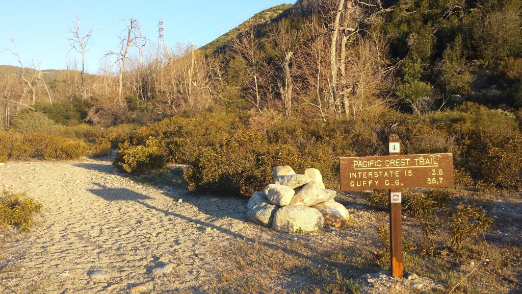 Trailhead at Silverwood Lake
