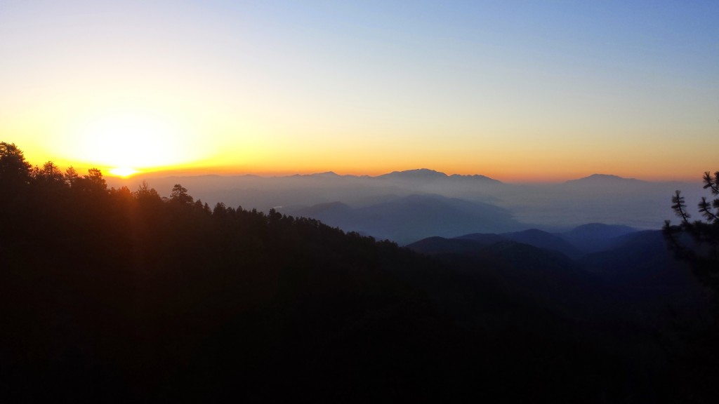 Sunrise in the San Gabriels