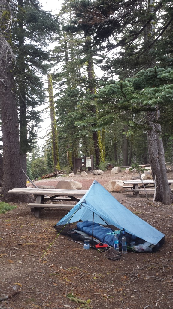 Camping at Barker Pass