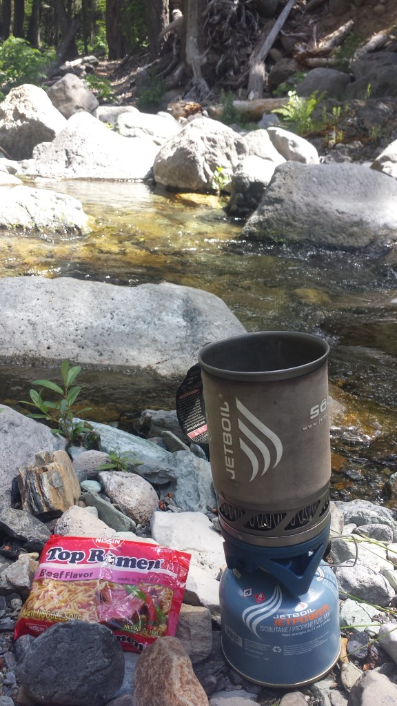 Ramen for lunch by Chips Creek