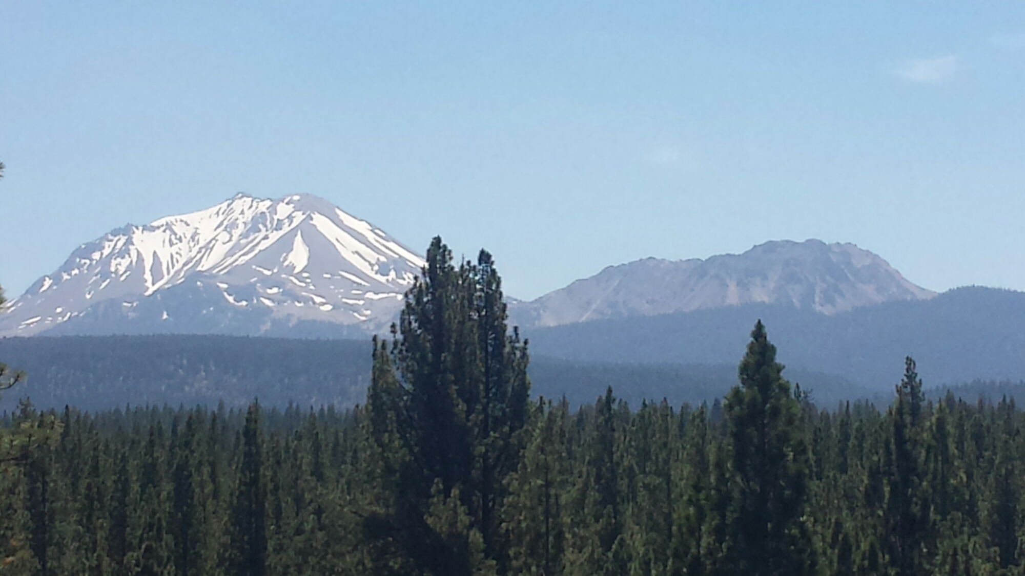 Lassen Peak and Brokeoff Mountain