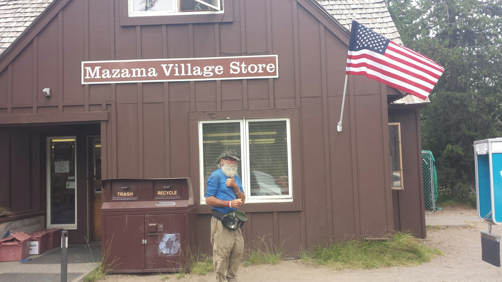 PCT hiker Hardway at Mazama Village