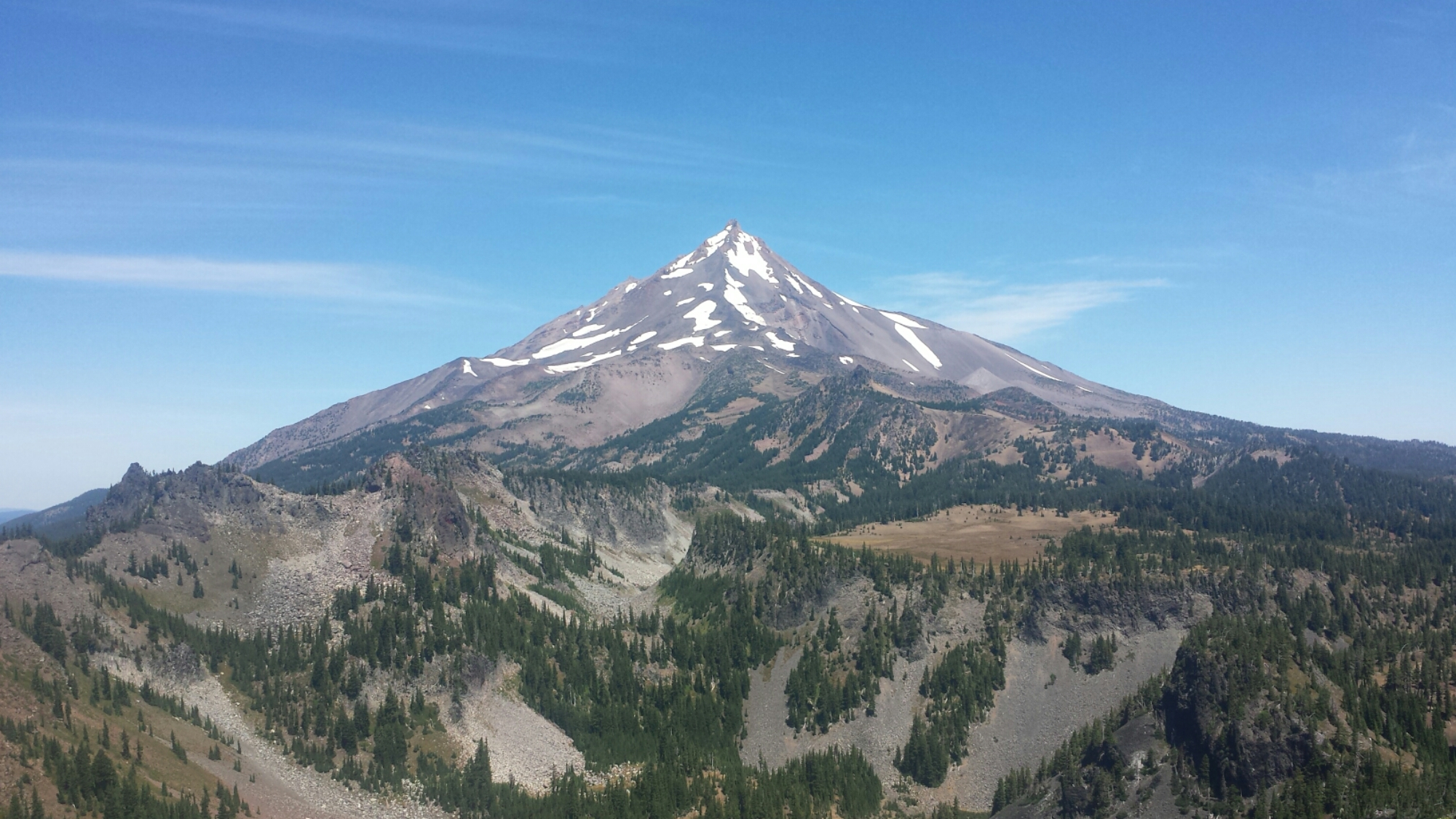 Mt. Jefferson and Cathedral Rocks