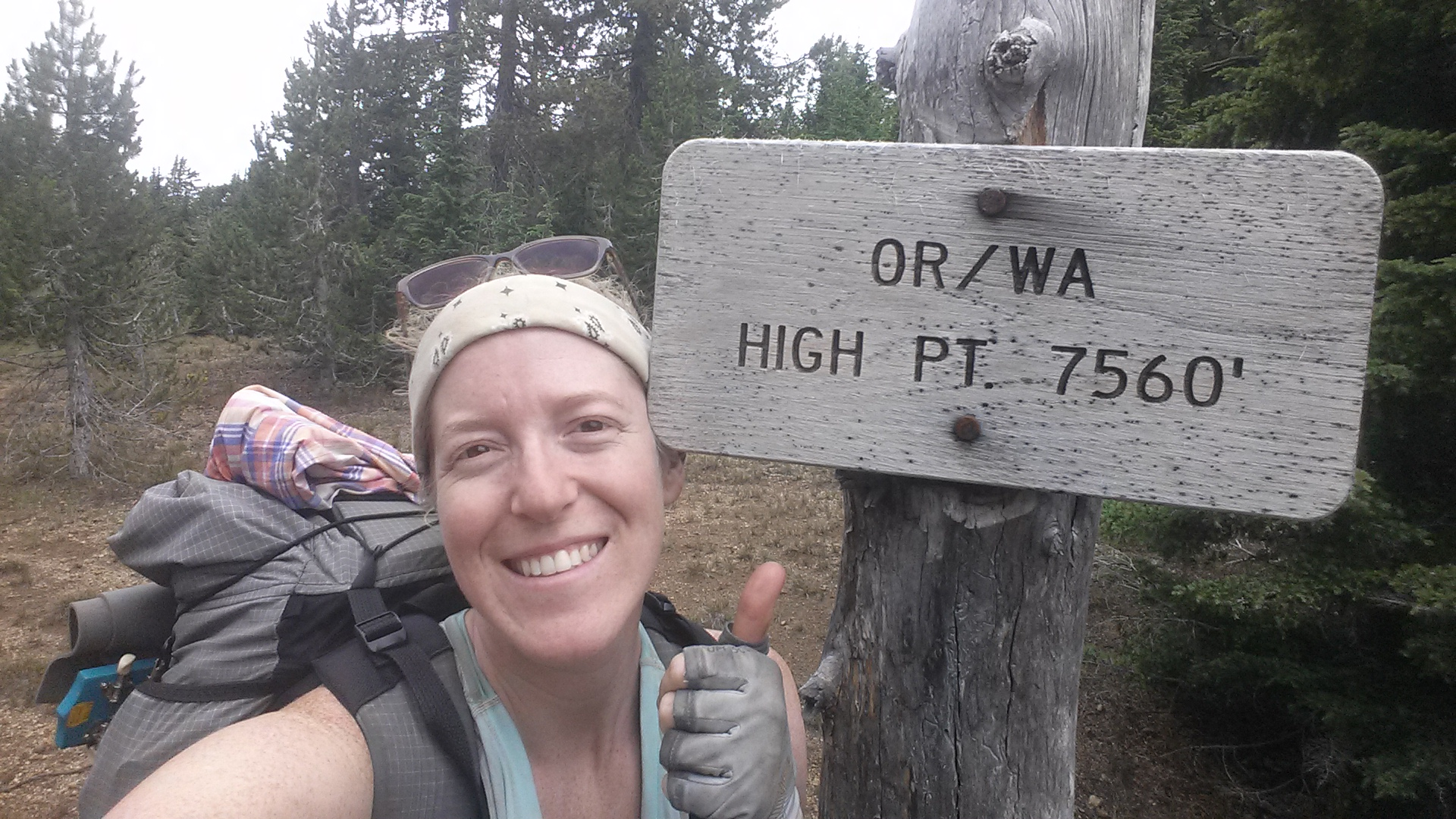 The highest point on the OR/WA PCT