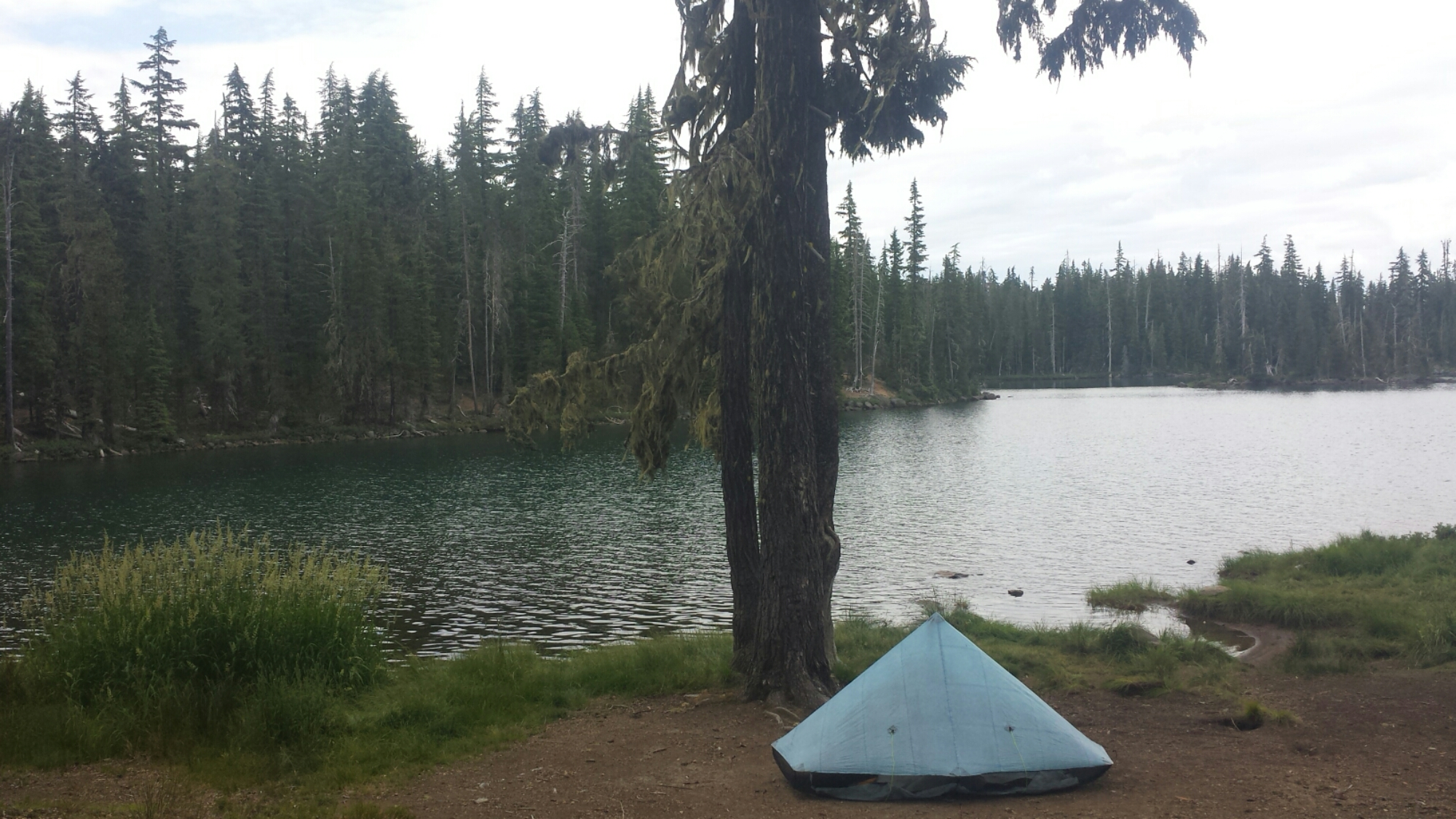 Lunchtime set-up for napping at Summit Lake