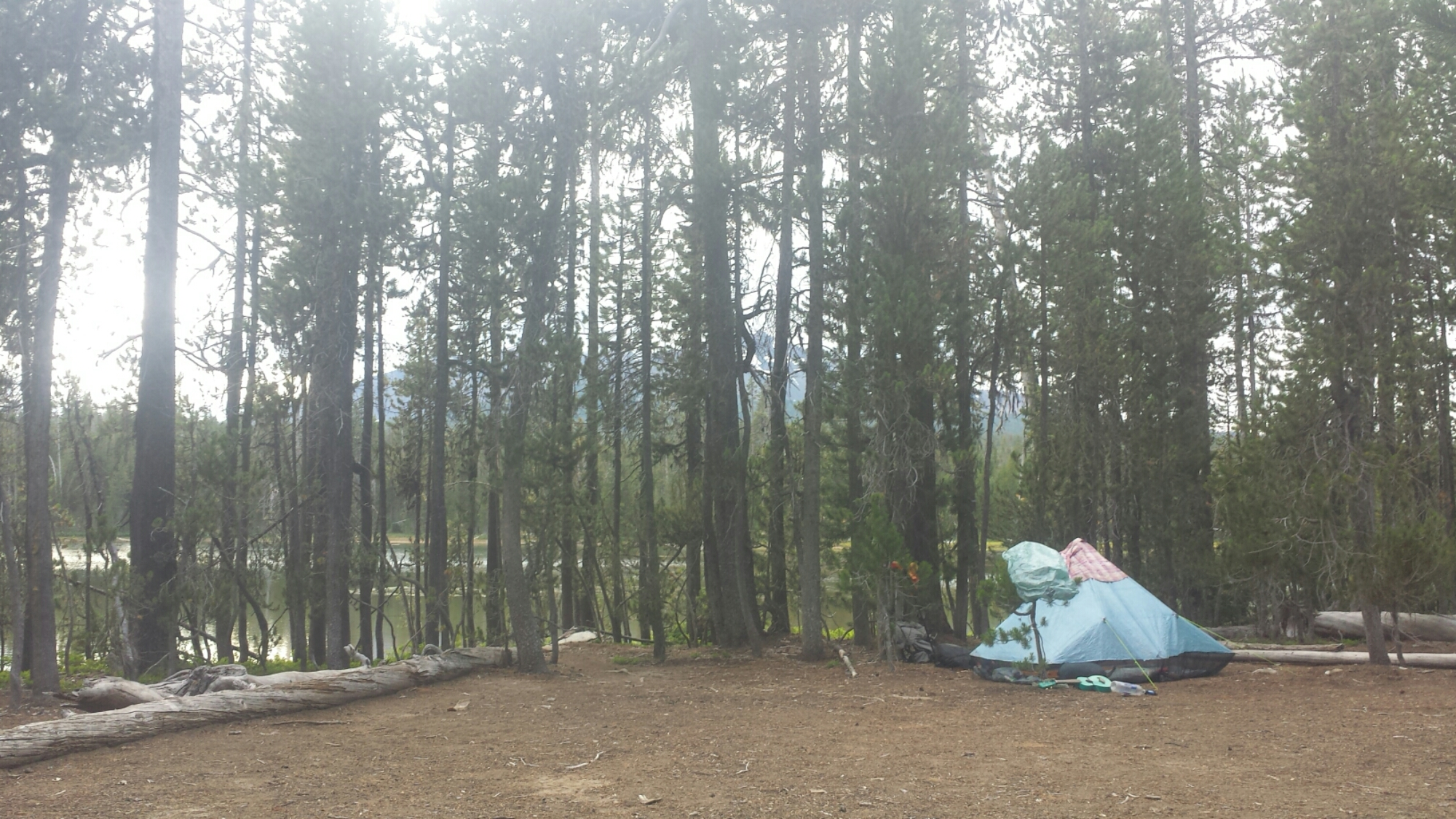 Camping at Diamond View Lake