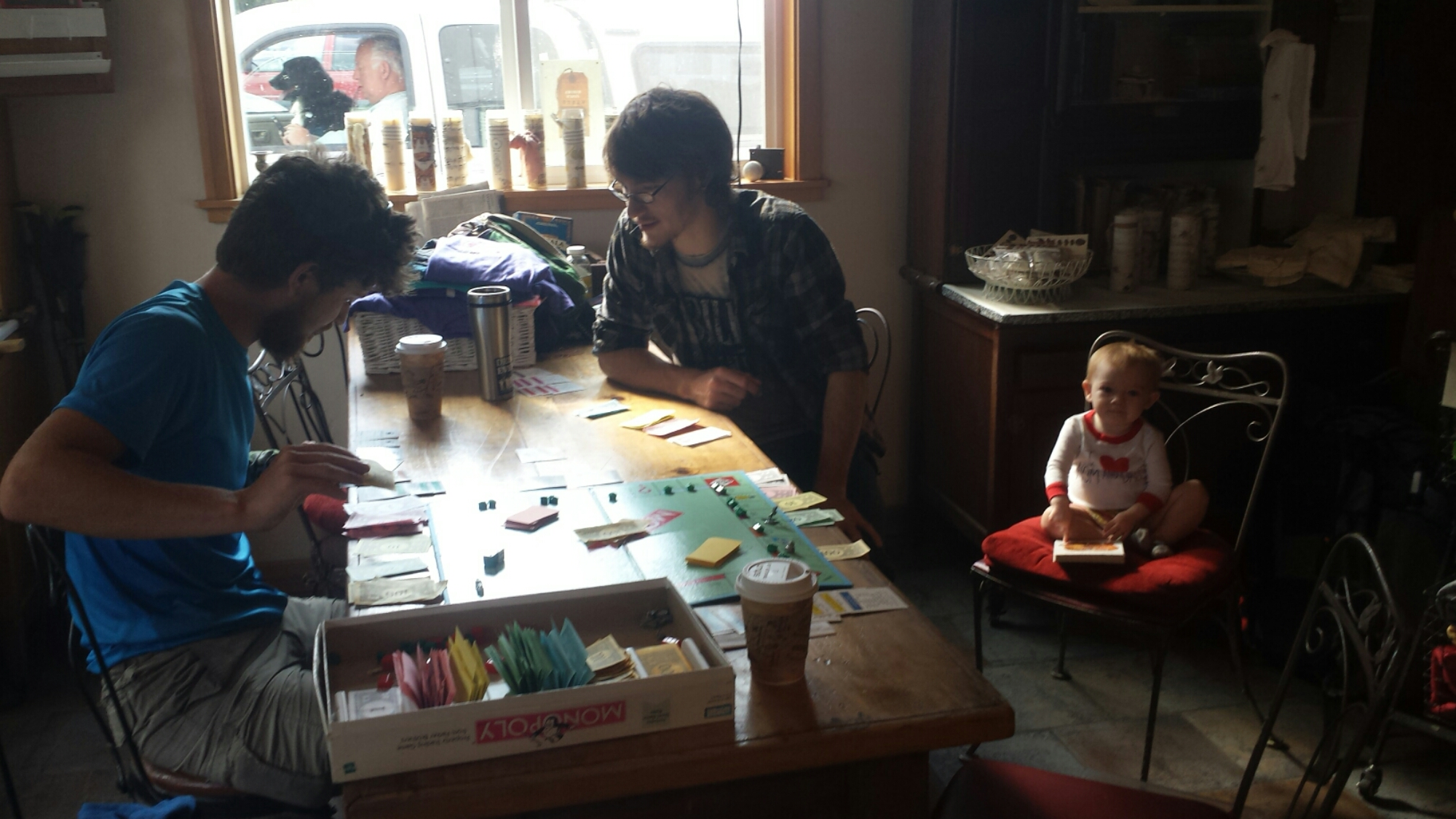 Monopoly with Khalil, Skyler and baby Nova