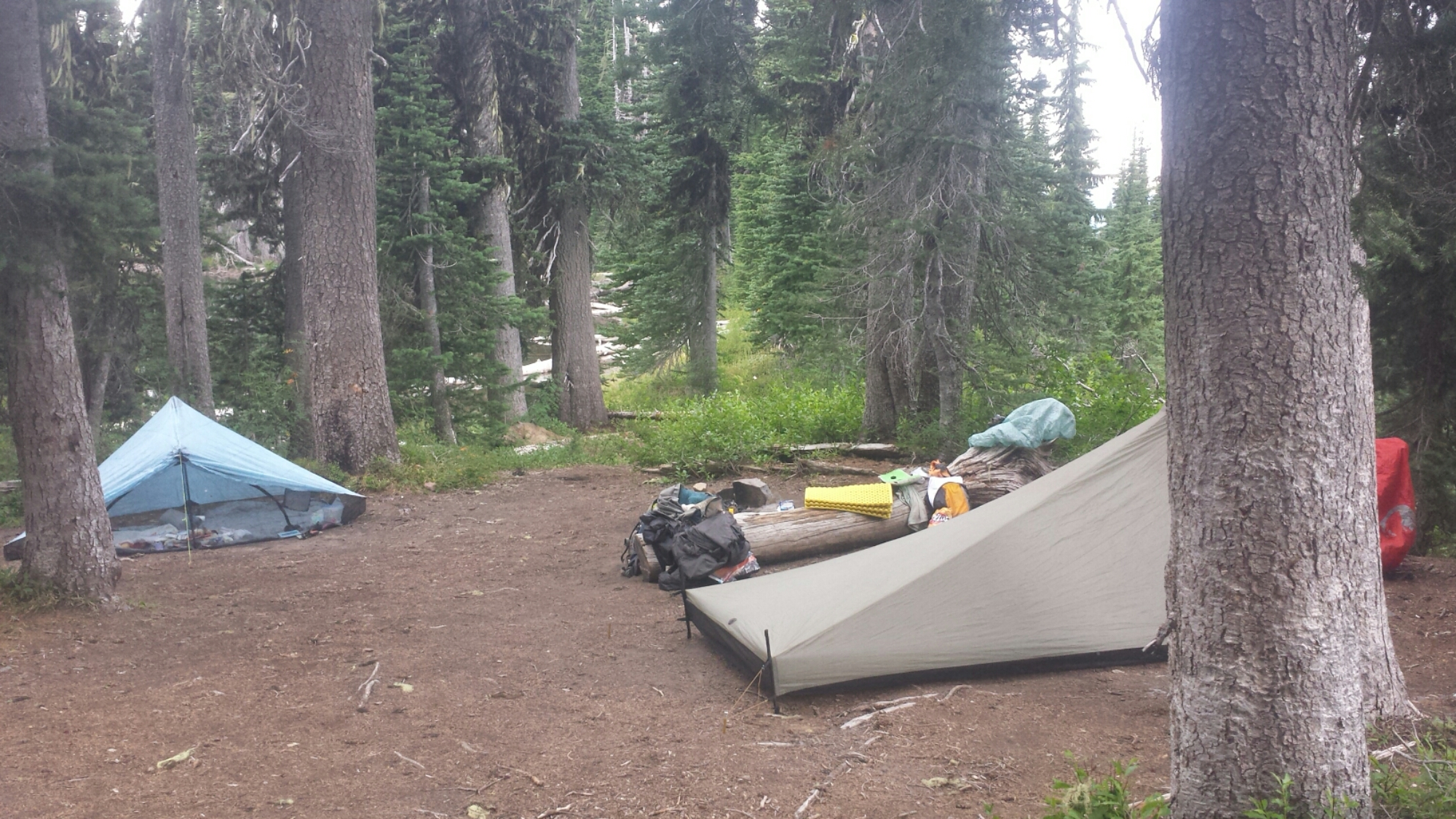 Camping at Sheep Lake