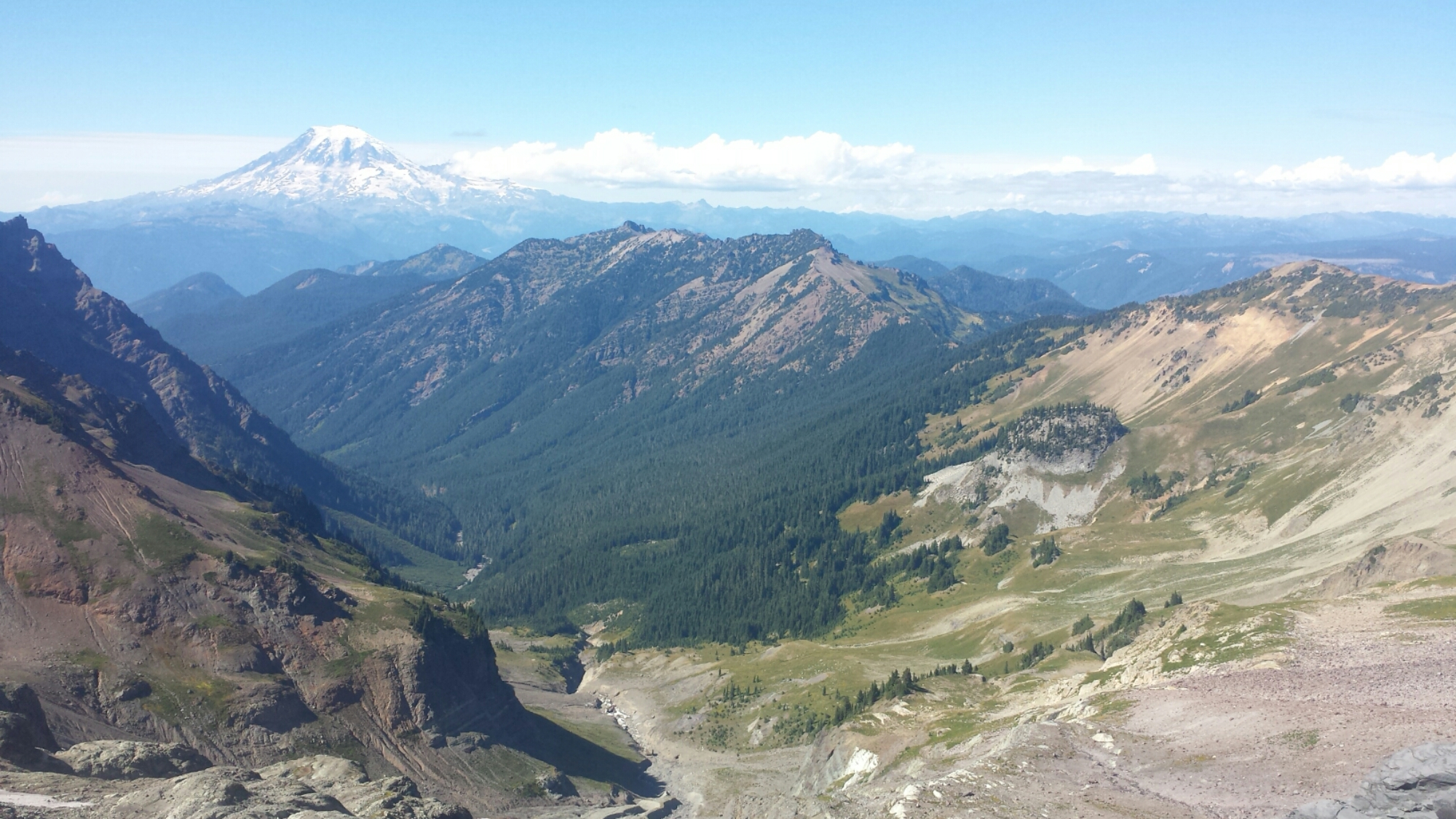 Mount Rainier viewed from Snowy Mountain