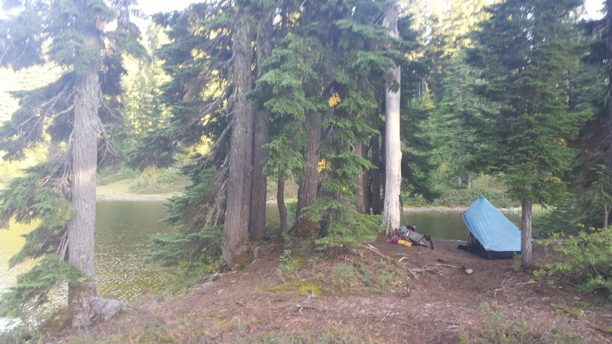 Camping at Mig Lake